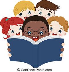 lettura, libri, bambini