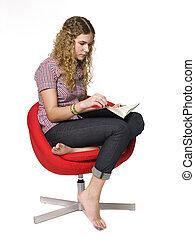 lettura ragazza, libro
