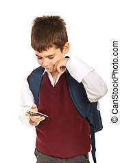 lettura, scolaro, sms