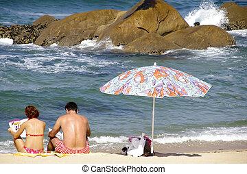 lettura, spiaggia