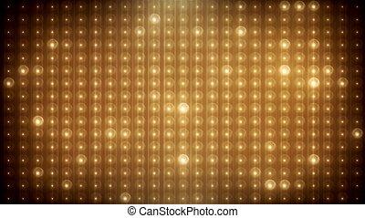 leuchtdiode, gold, vj, hintergrund, belebt, glitzer