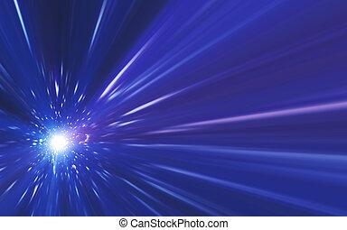 leuchtsignal, abstrakt, linse, leichte geschwindigkeit, spacescape