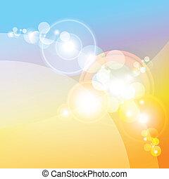 leuchtsignal, effekt, linsen, hintergrund