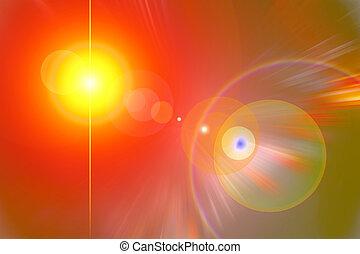 leuchtsignal, gelber , rotes