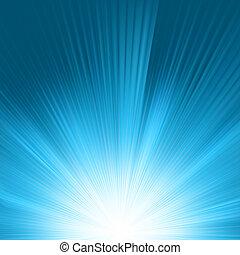 leuchtsignal, in, blaues, sky., eps, 8