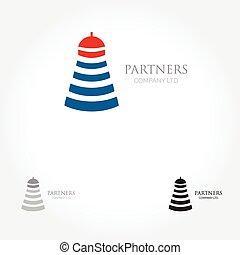 leuchturm, grafik, geschäftsillustration, editable, -, vektor, design, logo, logo., dein, design.
