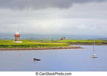 leuchturm, punkt, irland, rosses, grafschaft, sligo
