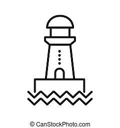leuchturm, vektor, design, abbildung