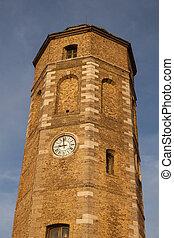 Leughenaer Tower in Dunkirk. Dunkirk, Hauts-de-France, France.