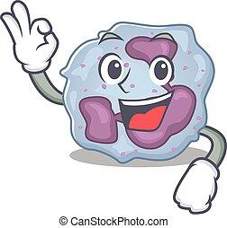 leukocyt, bild, gest, cell, okay, tillverkning