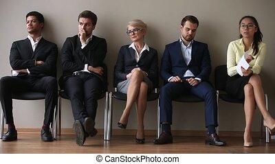 leur, asseoir, virage, attente, divers, ligne, demandeurs