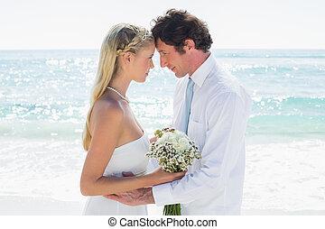 leur, couple, aimer, jour, mariage