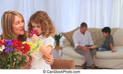 leur, grands-parents, petits-enfants, activités