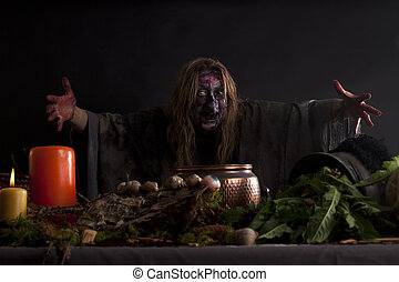 leur, sorcière, cuisine