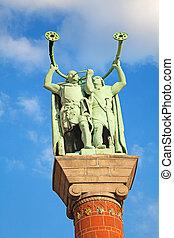leurre, statue, ventilateurs