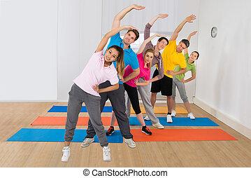 leute, übung, fitness