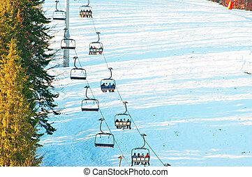 leute, auf, a, ski, lfit