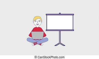 leute, bildung, studienabschluss, online