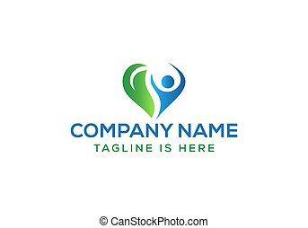 leute, design, glücklich, gesunde, logo