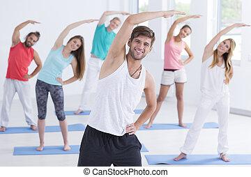 leute, fitnesstudio
