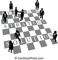 leute, loesung, strategie, planung, schach, menschliche