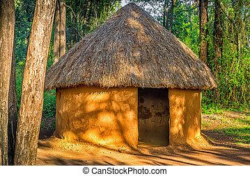leute, stammes-, hütte, traditionelle , kenia, kenianer, nairobi