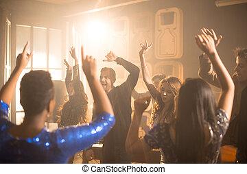 leute, tanzen, an, party