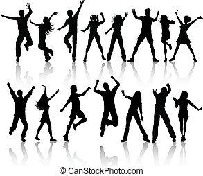 leute, tanzen