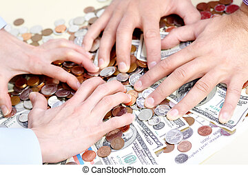 leute, und, geld