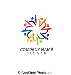 leute, vektor, zeichen, abstrakt, logo, mann, figur, logo., menschliche , bunte, begriff, illustration.