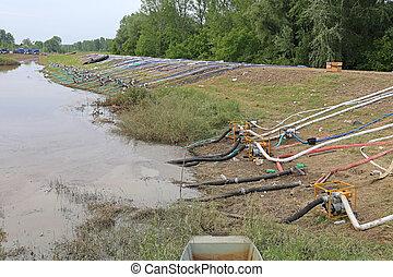 levée, inondations