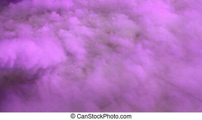 levée, nuages, fumée, fond, fond