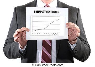 levée, taux, chômage