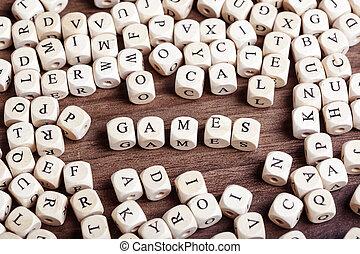 levél, játékok, -, kozkázik, szó