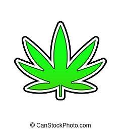 levél növényen, orvosi, háttér., zöld white, kender