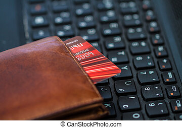 levéltárca, és, kártya, képben látható, billentyűzet