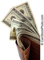 levéltárca, tele, pénz