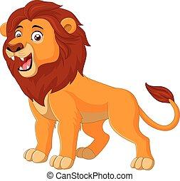 lev, řvoucí, karikatura