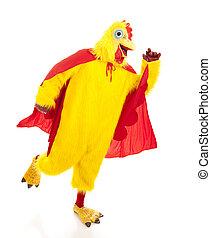 leva, desligado, super, galinha
