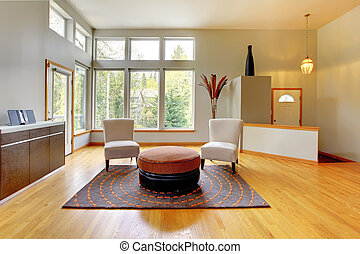 levande, fantastisk, rum, nymodig, interior., hem