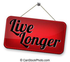 levande, länge, frisk livsstil