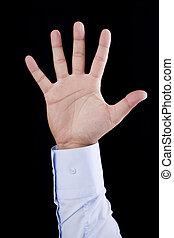 levantado, mano humana