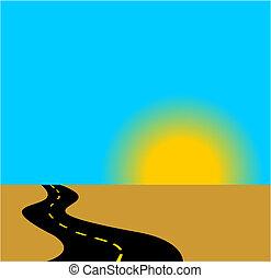 levantamiento, camino