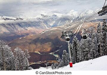 levantamiento, esquí, sochi, krasnaya, polyana