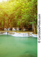 Level 2 of Huay Mae Kamin waterfall in Khuean Srinagarindra...