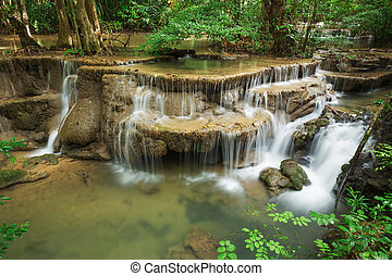 Level 6 of Huay Mae Kamin waterfall in Khuean Srinagarindra...