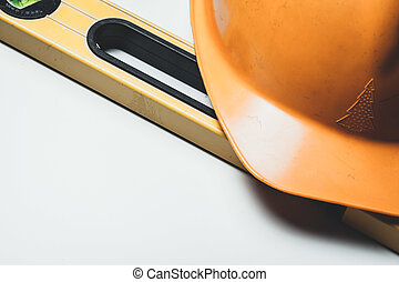 Level and plastic construction Helmet