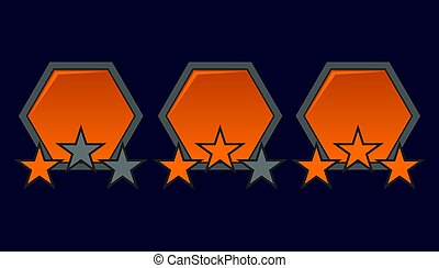Level complete Badge - Level complete badges vector set