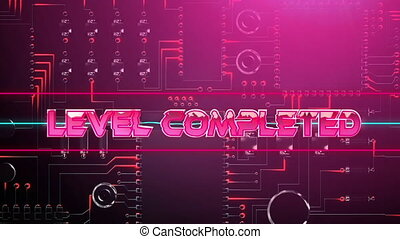 Level completed game screen