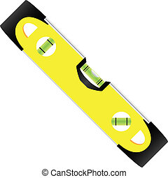Carpenter's level - an instrument for measuring height differences. Vector illustration.